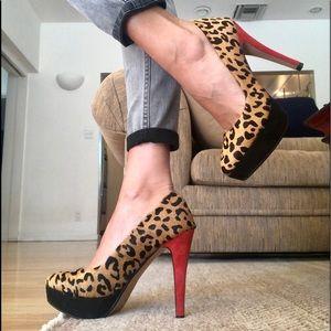 Zara Leopard Platform Shoes